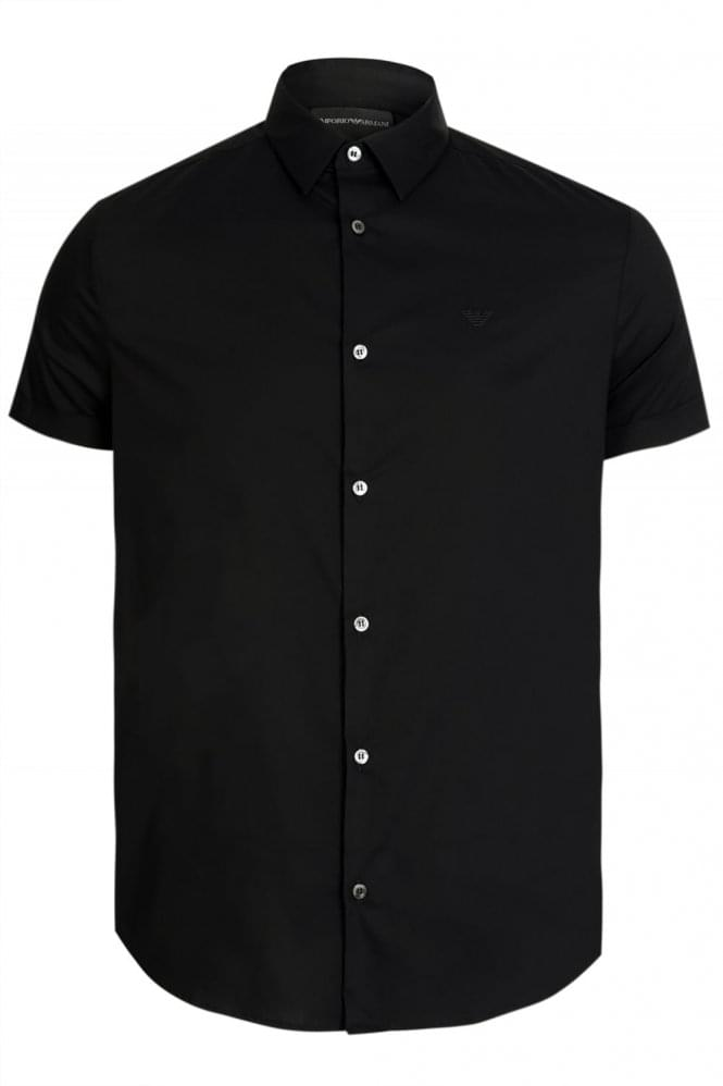 ARMANI Emporio Armani Short Sleeved Shirt Black
