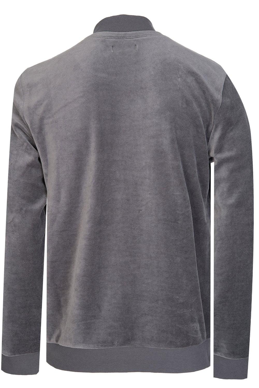 903088bb26b8f Emporio Armani Velour Sweatshirt Grey