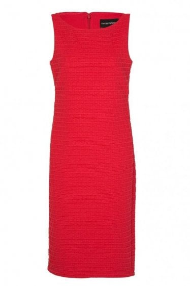 Emporio Waffle Dress Coral