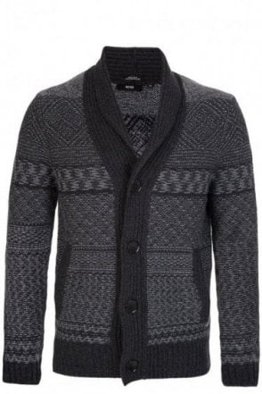 Hugo Boss 'Ernestino' Cardigan Grey