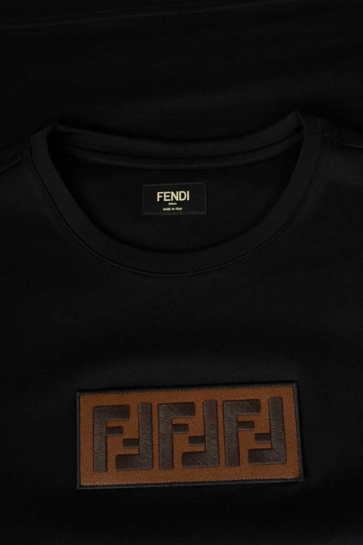 f5e94701 FENDI Chest Panal FF Logo T-shirt Black - Clothing from Circle ...