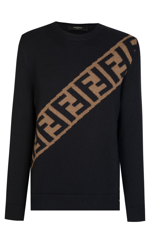 82236e15 Diagonal Logo Knitwear Jumper