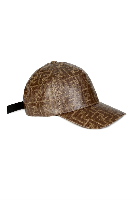 FENDI Fendi FF Leather Baseball Cap - Clothing from Circle Fashion UK dc9dcb01318d