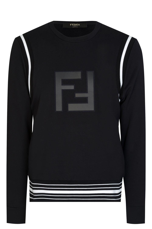 de logo Fendi Ff con Sudadera YqgwXx1Fq