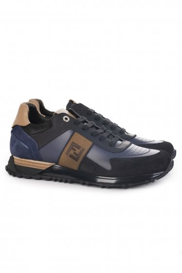 Fendi FF Panelled Sneakers