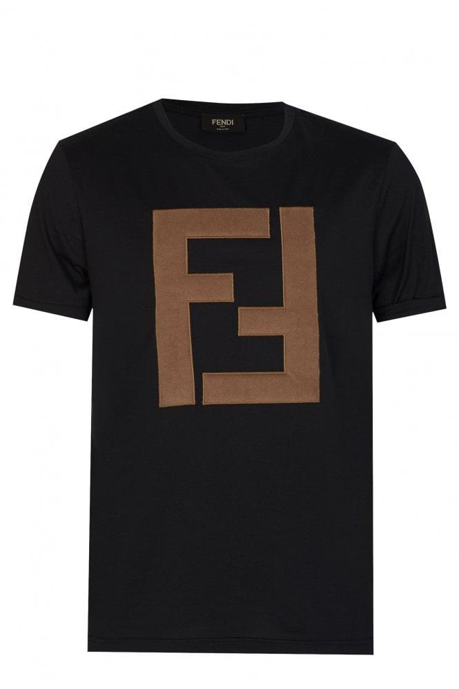 Fendi Oversized Logo T-shirt Black