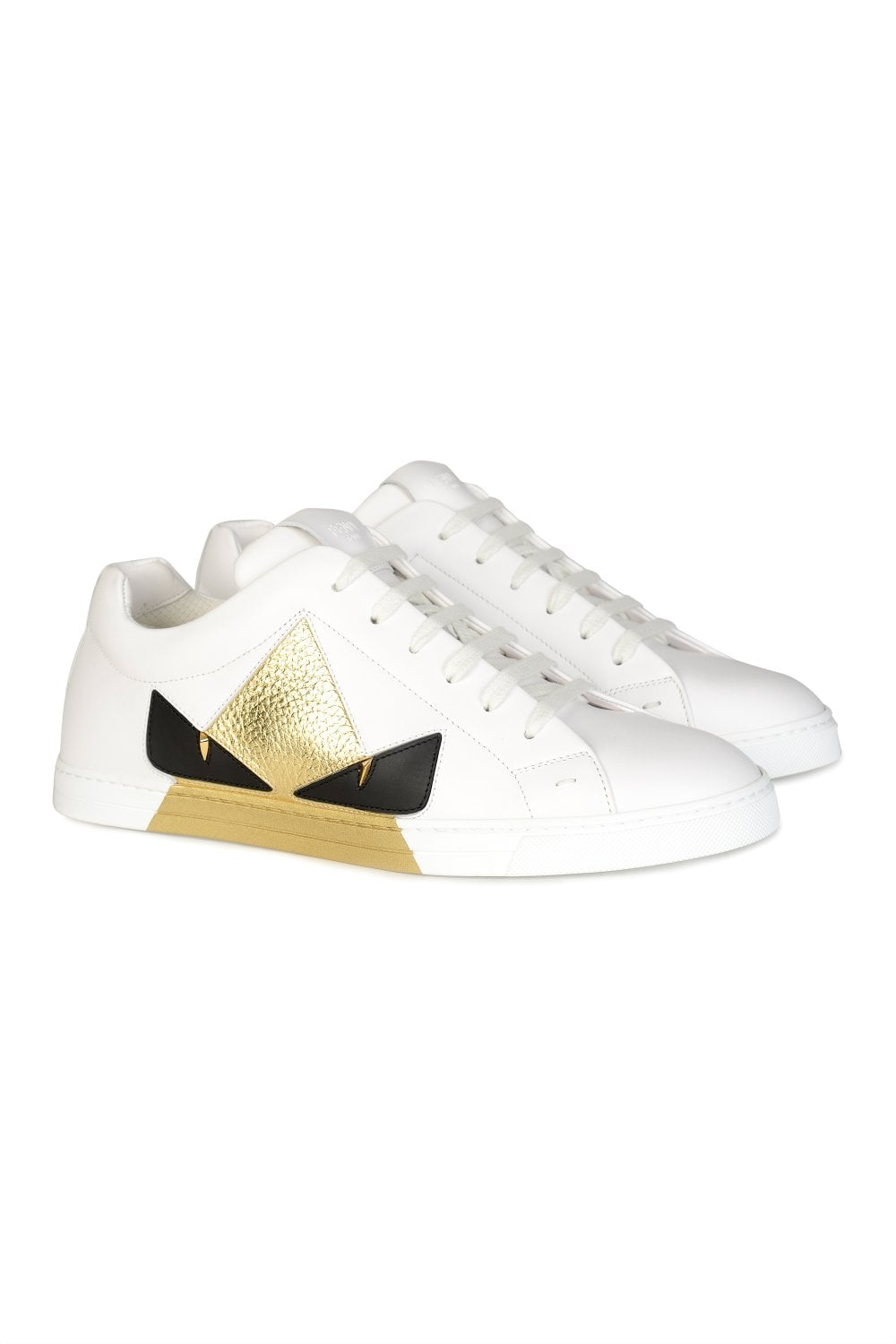 the latest f2a48 91b27 White Leather Low-top Sneakers
