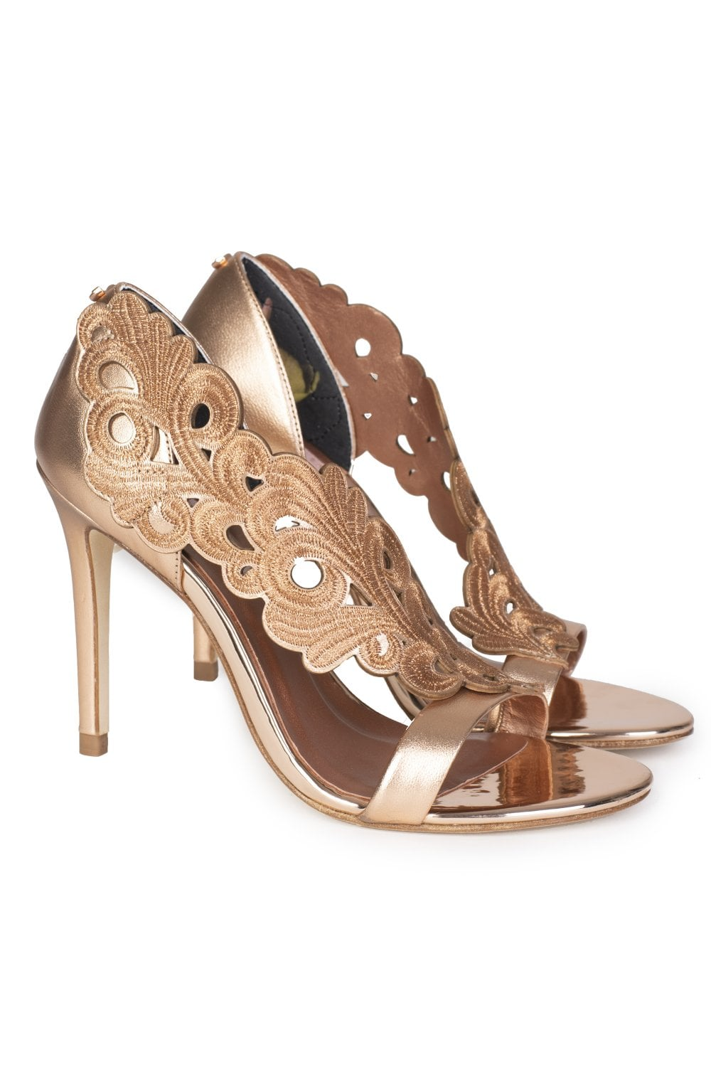 704de6600a7e TED BAKER Floral Cut Myrana Sandals Rose Gold - Clothing from Circle  Fashion UK