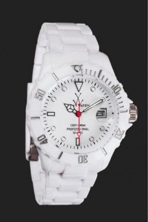 "Toy Watch White Fluo ""Only Time"""