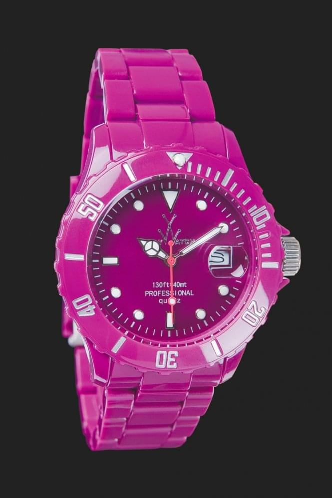 Toy Watch Fluo Only Time Purple Rain  One SIze