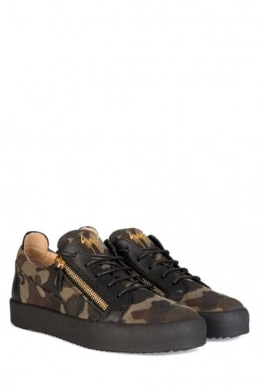 Giuseppe Zanotti Camouflage Canvas Low Sneakers