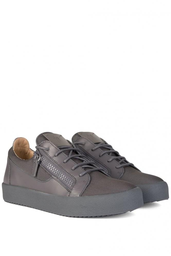 GIUSEPPE ZANOTTI London Low Mesh Sneakers Grey