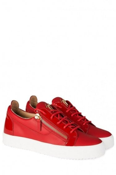 Giuseppe Zanotti Red Low Sneakers