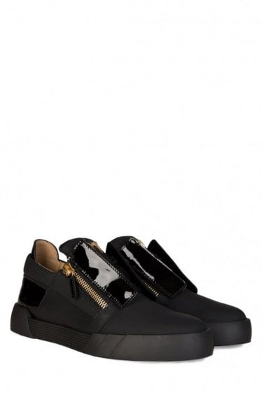 Giuseppe Zanotti Shark Sole Low- Top Sneakers Black