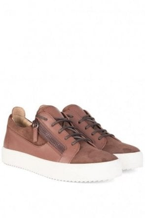 Giuseppe Zanotti Suede Low Sneakers Brown