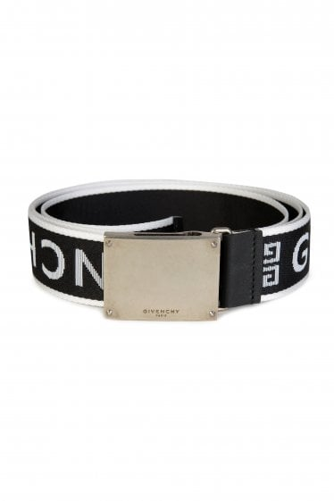 Givenchy All Over Logo Belt Black