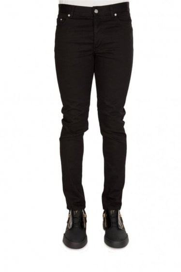 Givenchy Back Star Detail Cotton Stretch Jeans Black