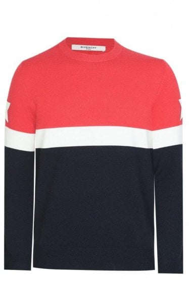 Givenchy Contrast Block Striped Knit