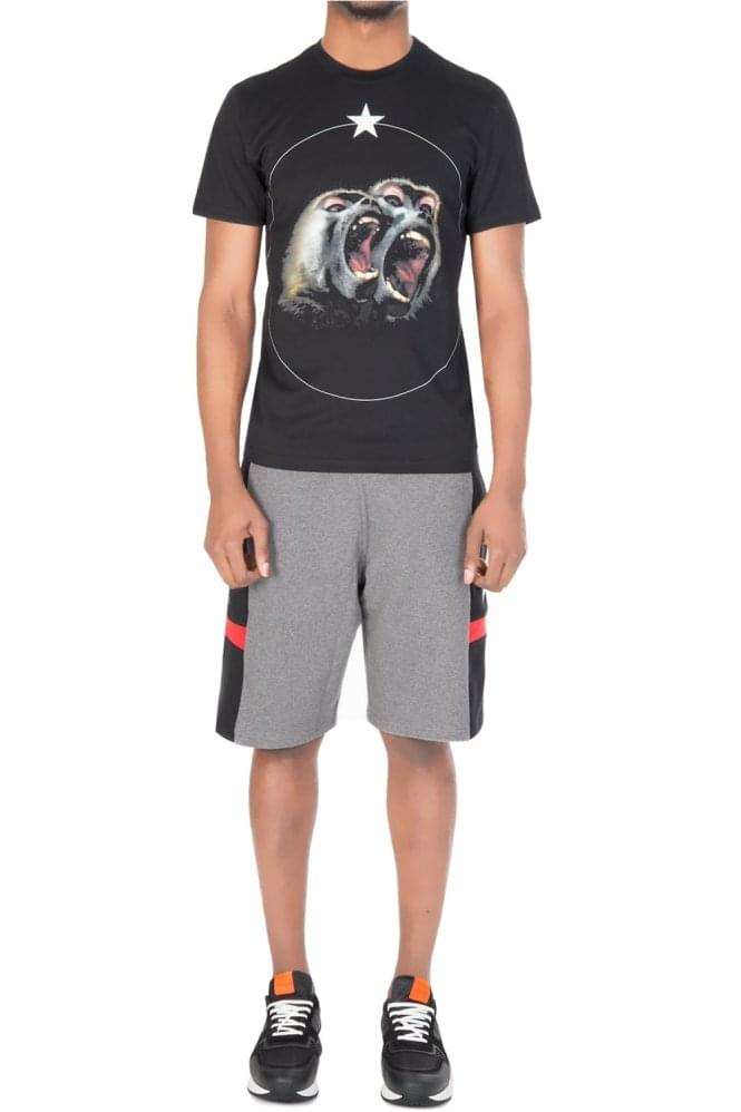 GIVENCHY Contrast Panel Combo Item Shorts Grey