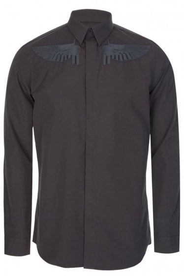Givenchy Embossed Wings Tailored Shirt
