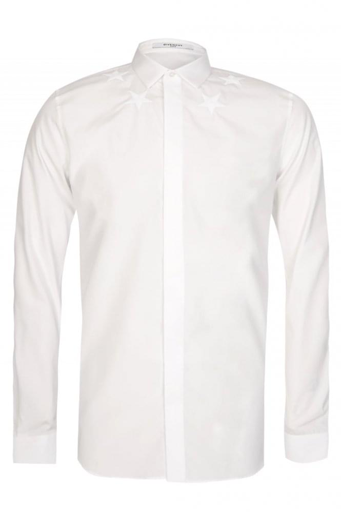 GIVENCHY Embroidered Stars Shirt White