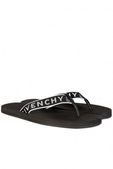 Givenchy Favelas Beach Thong Logo Sandals
