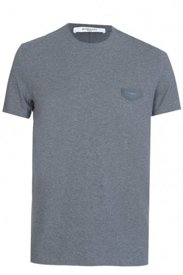 Givenchy Leather Patch Tshirt Grey