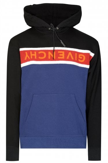 Givenchy Logo Stripe Hooded Sweatshirt