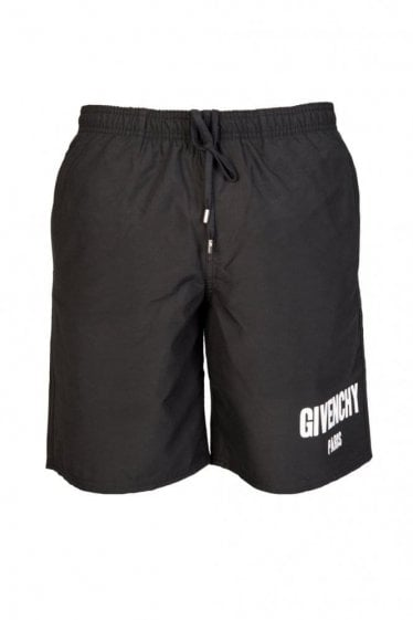 Givenchy Logo Swim Shorts Black