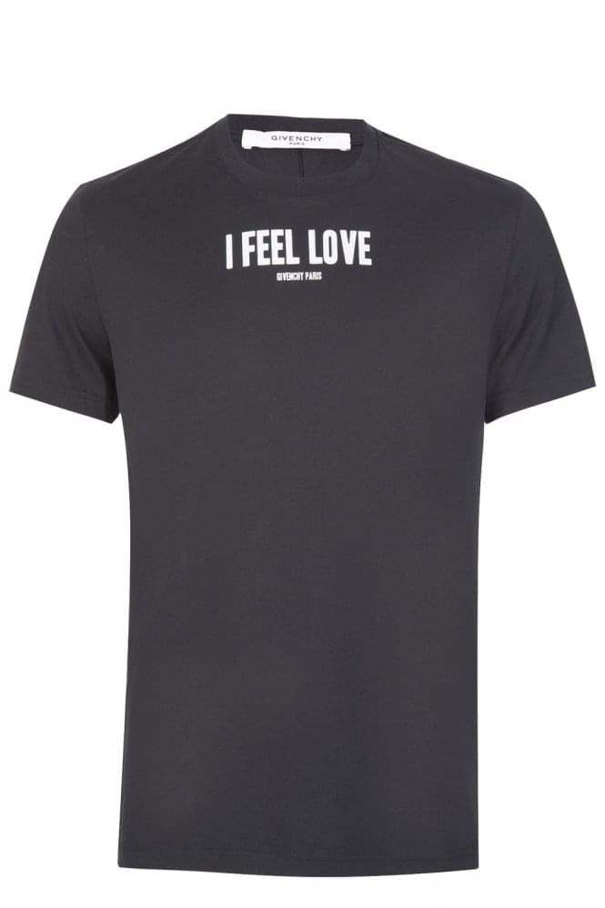 GIVENCHY Paris I Feel Love Tshirt Black