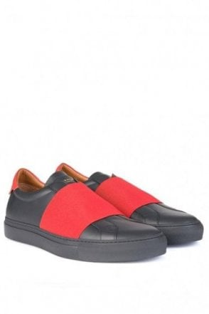 Givenchy Red Strap Sneakers Black