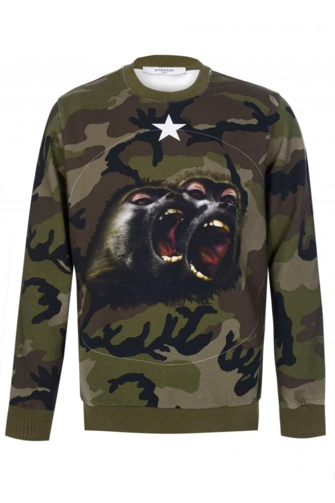 GIVENCHY Screaming Monkeys Camo Sweatshirt