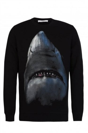Givenchy Shark Print Sweatshirt Black