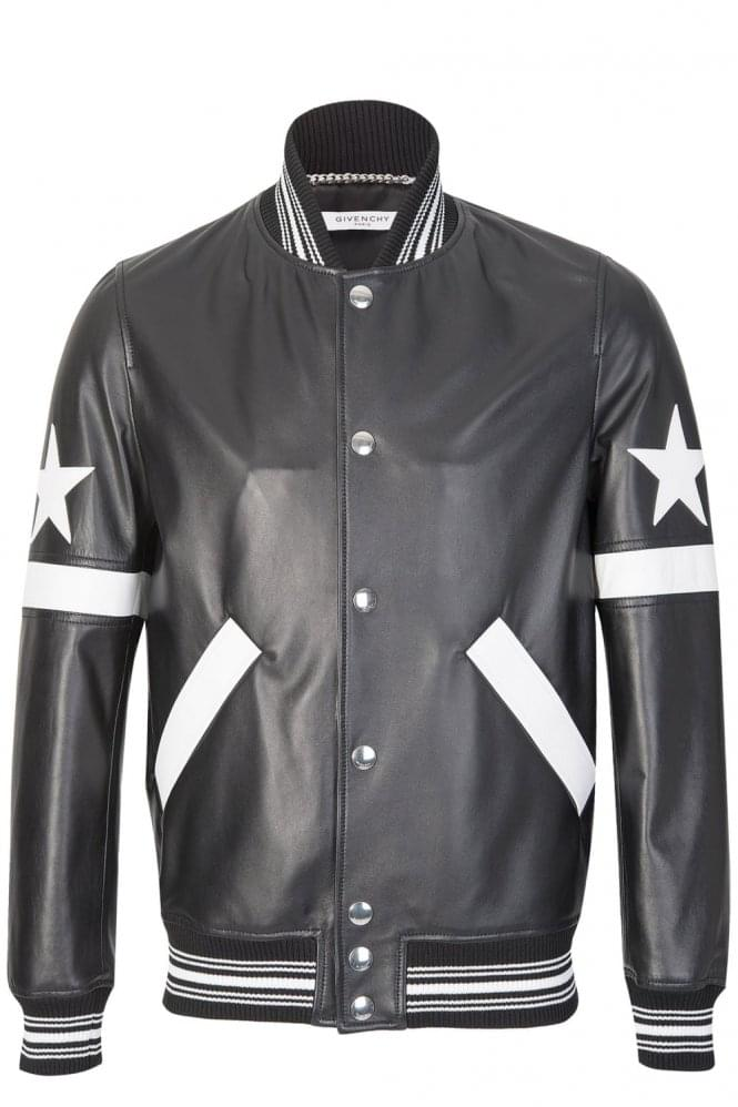 GIVENCHY Signature Star Leather College Jacket