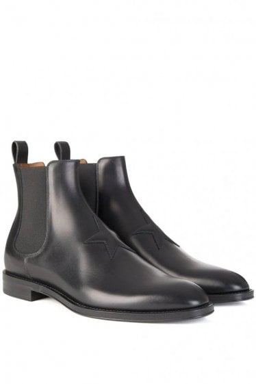 Givenchy Star Logo Chelsea Boots Black