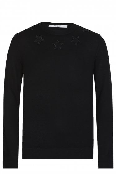 Givenchy Star Neck Knit Sweatshirt