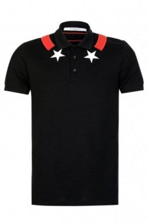 Givenchy Star Panel Polo Black