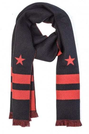 Givenchy Star & Striped Cashmere Scarf