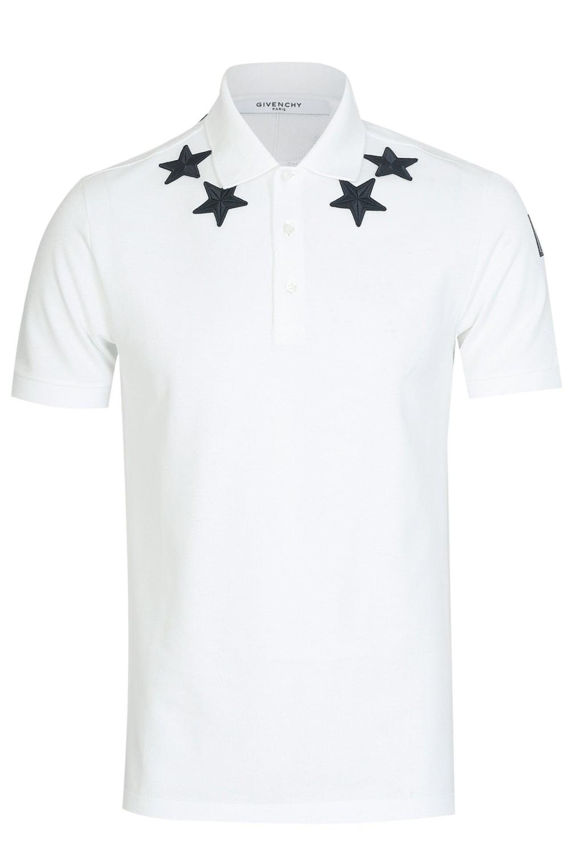 c13c7ede Givenchy Stars Neckline '47' Polo White