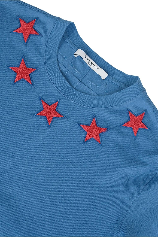 Givenchy Stars Neckline T-Shirt Blue b11e42ffe95d