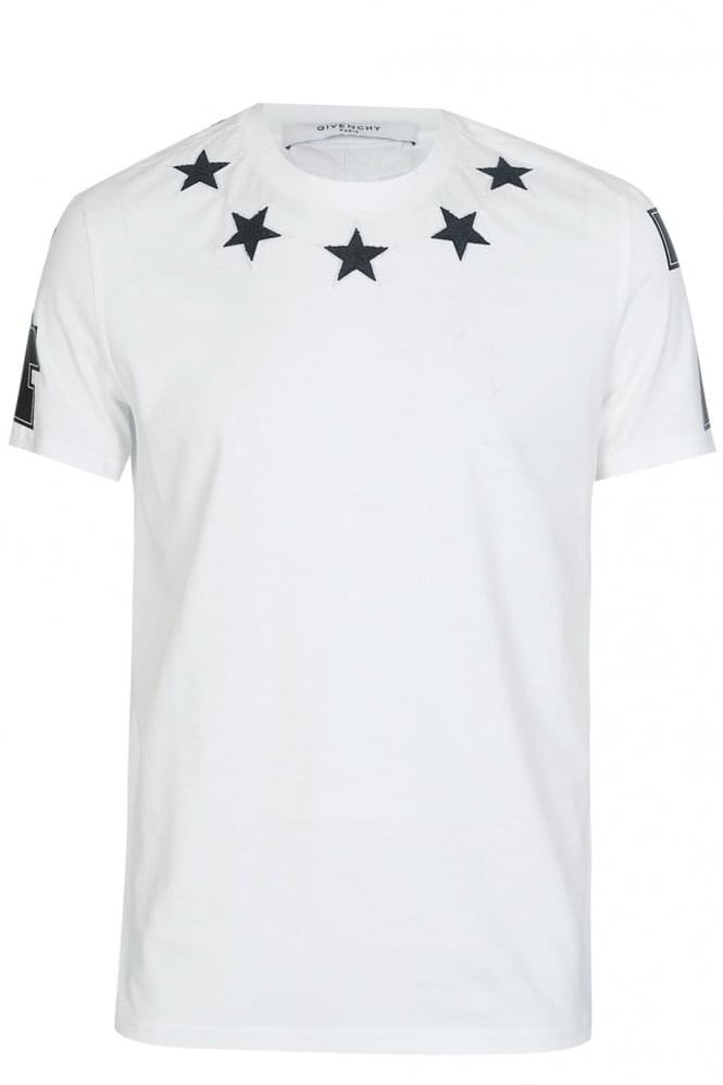 Givenchy stars neckline t shirt white for Givenchy t shirts for sale