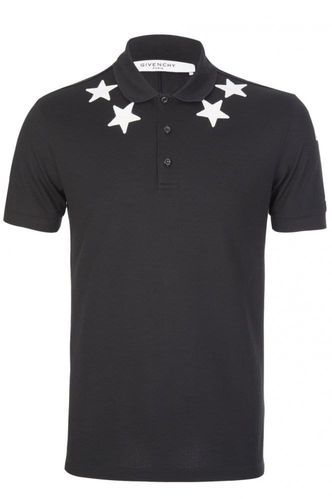 GIVENCHY Stars Polo Black
