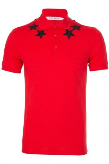 Givenchy Stars Polo Red