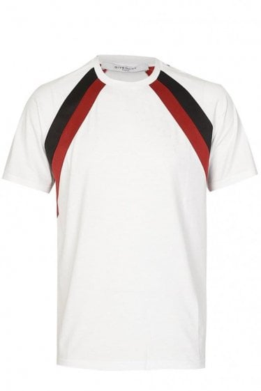 Givenchy Stripe Sleeve Jersey T-Shirt