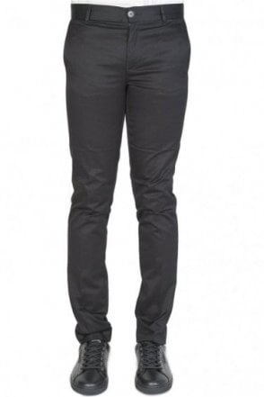 Givenchy Tab Logo Cotton Trousers Black