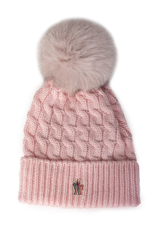 d491f16ea6e MONCLER Grenoble Logo Womens Wool Pom Pom Hat - Clothing from Circle  Fashion UK