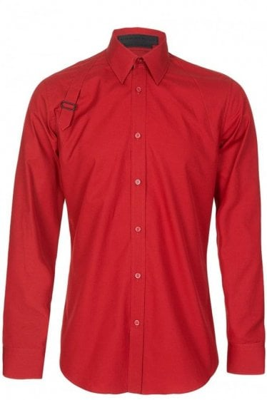 Alexander McQueen Harness Shirt Red