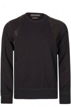 Alexander McQueen Harness Sweatshirt Black