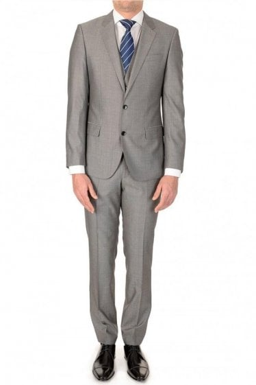 Hugo Boss Huge3/Genius WE 3 Piece Suit Grey