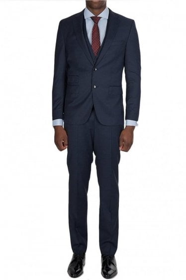 Hugo Boss 3 Piece Norman/Ben We Suit Navy